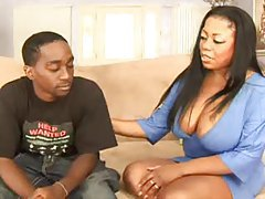 Shaved fat black chick fucked in her hot hole tubes