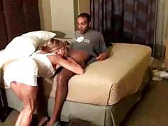 Swinging slut gets a black creampie tubes