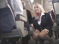 Flight attendant fucked ona plane tube