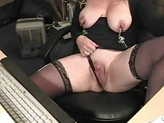 Milf with natural tits solo play on camera tubes