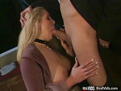 Busty blonde blowing cock before fucking tubes