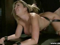 BDSM big tits blonde fucked in the mouth and tought some submission lessons tubes