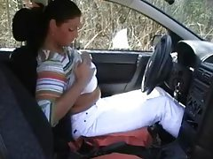 Great Amateur Couple Gets Wild on a Car tubes