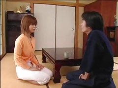 Hairy Japanese girl sucks cock and fucks tubes