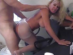 Naughty blonde secretary milf fucked hard tube