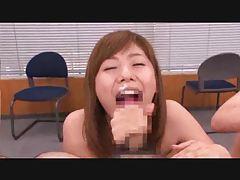 Japanese girls sucking cock at orgy tubes