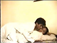 Indian couple fooling around in the bed tubes