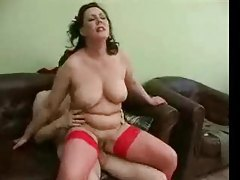Chubby mature in red fishnets fucked hard tubes