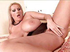Huge natural tits on curvy girl in black lingerie tubes