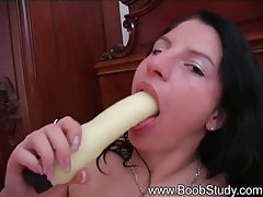 She puts a toy in her dripping wet pussy tubes