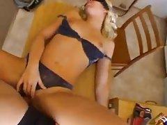 Blindfolded blonde amateur fucked from behind tubes