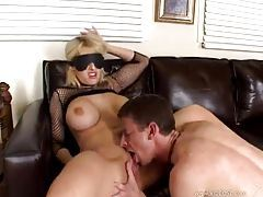 Blindfolded cocksucker is fucked hard tubes