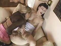 Ribbed dildo pleasures the sexy girls tubes