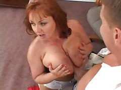 Slutty big tits redhead secretary taken tubes