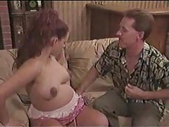 Pregnant girl sucks him before sitting on dick tubes