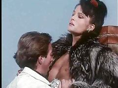 Chick fucked outdoors in a fur coat tubes