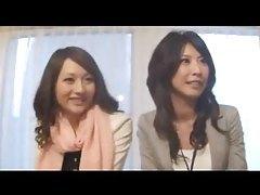 Sexy Japanese office lady banged hard tubes