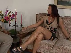 Milf with perky tits and stockings seduces him tube
