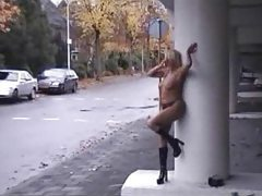 Slutty girls doing public nudity tubes