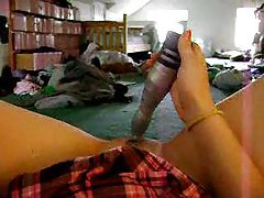 Teen films video of toy entering her pussy tubes