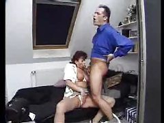 Mature redhead gobbling hot cock and balls tubes