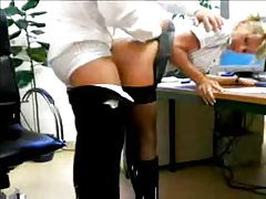 Slutty secretary boned by the boss tubes