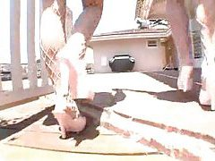 Two chicks with perfect asses pleasure their men tubes