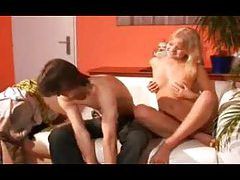 Two guys and a cute girl in a threesome tubes