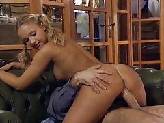 Pigtails blonde teen loves his hard dick tubes