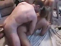 Two guys and two amateur girls fucking tubes