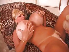 Humongous tits on blonde pussy eaters tube