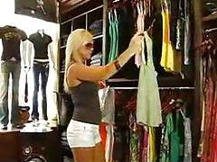 Fucking a super hot blonde in the change room tubes