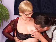 Chubby mature is double penetrated hard tubes