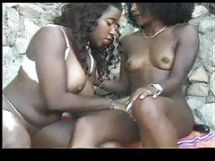 Lesbian dildo sex with black chicks outdoors tubes