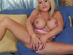 Enormous tits on blonde that loves anal tubes