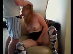 Blonde on webcam bobbing on cock tubes