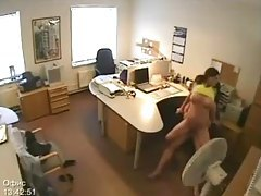 Security camera shows couple fucking tubes