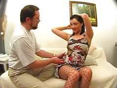 Hard cock invading the stockings girl tubes