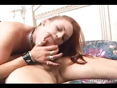 Redhead great blowjob and doggy style tubes