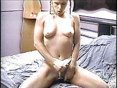 Pigtailed young blonde has 69 and sex tubes
