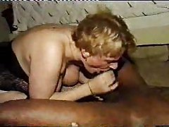 Mature in stockings takes multiple black cocks tubes