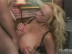 Blonde milf has watermelon sized tits tubes