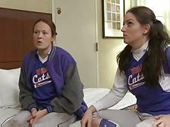 Softball playing babes have lesbian sex tubes