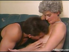 Granny blows and gets fucked by a dude tubes