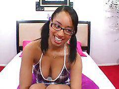 Smiles on the black teen that craves cock tubes