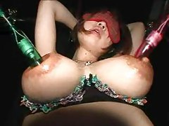 Painful tit milking with Japanese slut tubes