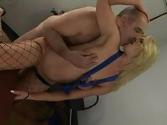 Older guy pounds a sweet young blonde tubes
