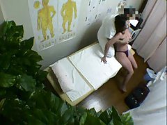 The massage of the Japanese girl is dirty tubes