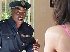 Black cop dude fucks Tori Black tubes