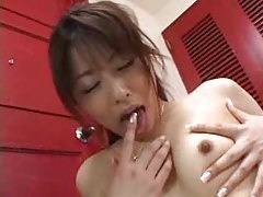 Asian chick with hairy pussy plays alone tubes